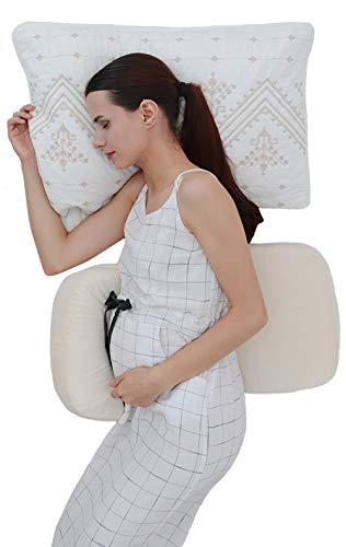 LightEase Memory Foam Pregnancy Side Sleeping Pillow Double Wedge for Body, Belly, Back Support