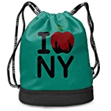Adetad I Love NY - Mochila de viaje con cordón