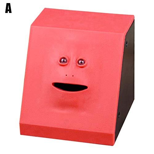 Msleep Face Money Eating Coin Bank Batteriebetriebene Spardose Kinderspielzeug Geschenke