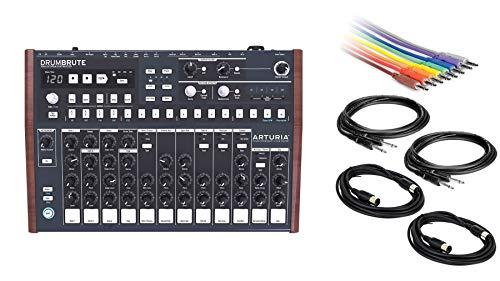 Buy Arturia DrumBrute Drum Machine Bundle with CV Patch Cable 8-Pack, 2 Instrument & 2 MIDI Cables (...