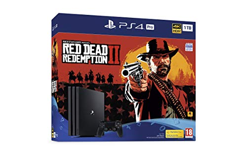 Sony PlayStation 4 Pro (1TB) Console with Red Dead Redemption 2 Bundle [video game]