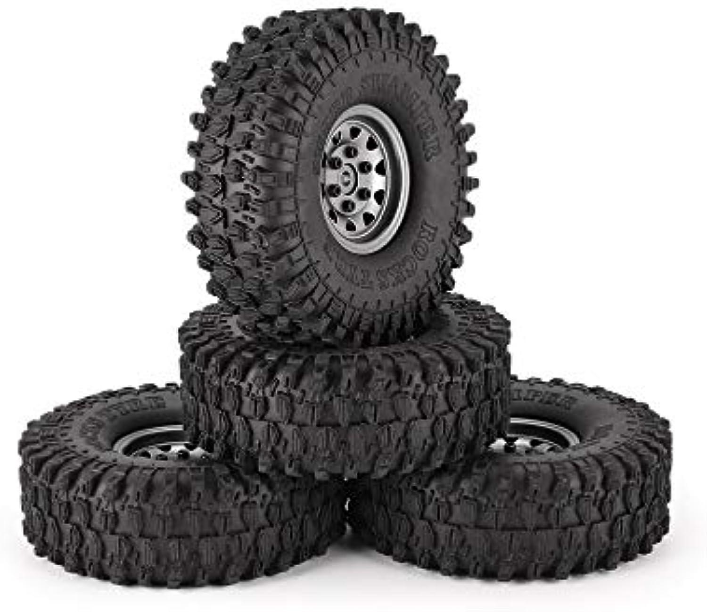 4 stücke 1,9 Zoll 120mm gummireifen Reifen mit metallfelge Set für 1 10 Traxxas TRX-4 SCX10 RC4 D90 RC Crawler Auto Teil B07M6QW3CN  Die erste Reihe von umfassenden Spezifikationen für Kunden      Komfort