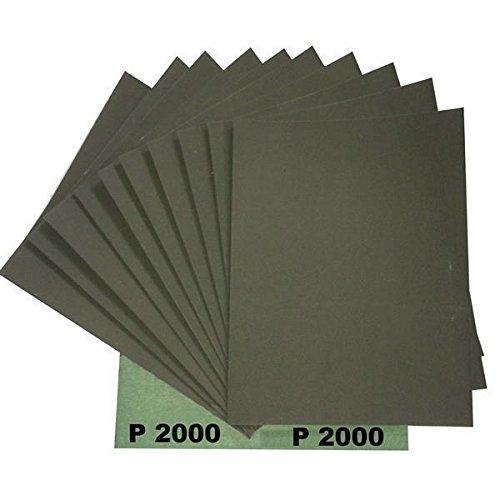Ludwig Lacke Wasserschleifpapier 25 Blatt Grün Nassschleifpapier Körnung 2000