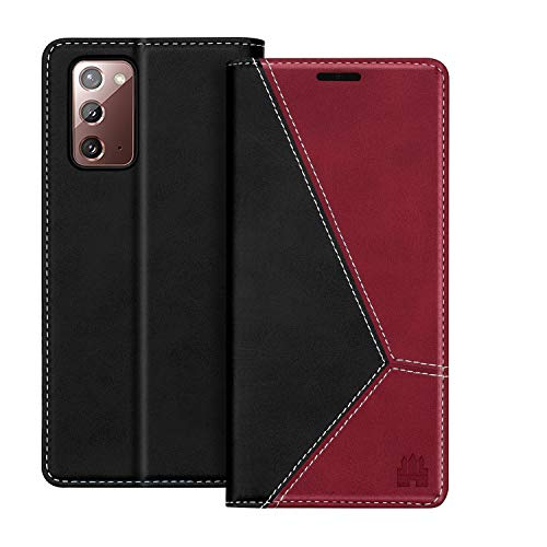 Caislean Wallet Case for Samsung Galaxy Note 20 5G, PU Leather Folio Flip Cover, [RFID Blocking] Card Holder Slots Kickstand Cash Pocket Book Style Folding Case Slim Fit for Galaxy Note 20 5G 6.7' Red