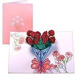 Paper Spiritz ポップアップカード誕生日,母の日カード,結婚記念カード,祝賀カード,感謝カード,グリーティングカード,サンキューカード,3Dポップアップカード,すべての機会