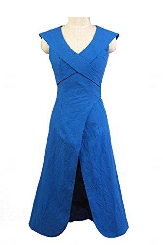 Fuman Game of Thrones Daenerys Targaryen Dress Kleid Blau Cosplay Kostüm L