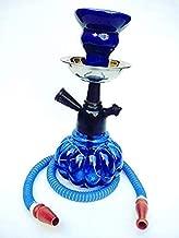 Designer Decorative Royal Blue Hookah with Black Met Finish (12 Inches) (Kharbuza Shaped)