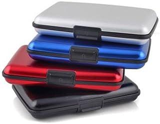 TOOGOO(R) Waterproof Business Id Credit Card Wallet Holder Aluminum Metal Case Box (Random Color)