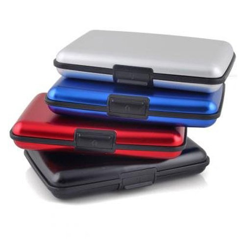 TOOGOO(R) Wasserdichte Visitenkarte ID Kreditkarte Brieftasche Halter Aluminium-Etui Schutzschale (zufaellige Farbe)