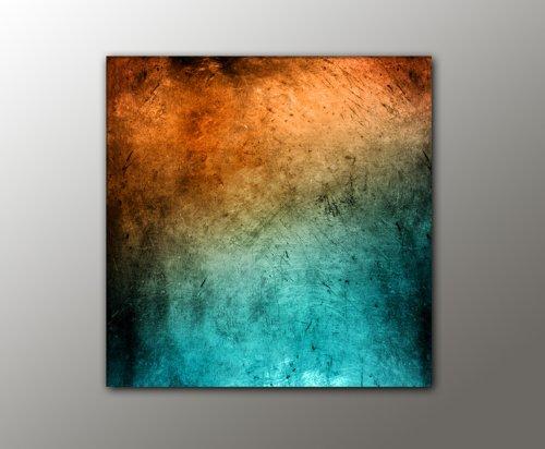 100x100 cm !!! - türkis orange + (Vintage_Style_13-100x100cm) abstraktes Bild knallige Farben RIESEN-FORMAT Bilder auf Leinwand und Keilrahmen +++ Deko für ihr Wohnzimmer, Schlafzimmer, Büro + XXL BILDER FOTODRUCKE KUNSTDRUCK WANDBILDER AUSWAHL IN UNSEREM BILDERSHOP +++ Trendmotive für alle Wohnbereiche in vielen verschiedene Größen, mit kreativen Bildmotiven verleihen Sie Ihrem Wohnraum eine persönliche Note, kunstvolle Trendmotive passend zu aktuellen Möbeltrends, Bei uns finden Sie für jede Wand das passende Kunstwerk !