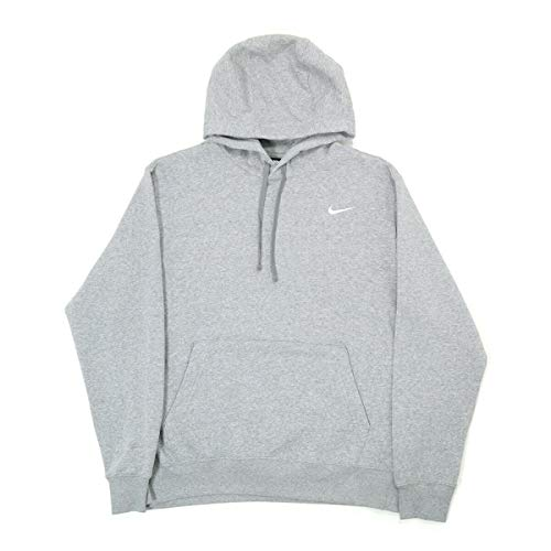 Nike Team Club Pullover Hoodie (Dark Grey/White, X-Large)
