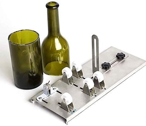 Queta Glasschneider Flaschenschneider für Flaschen Edelstahl Flaschenschneider 5 Verstellbares Rad Glasschneider zur DIY Flaschen