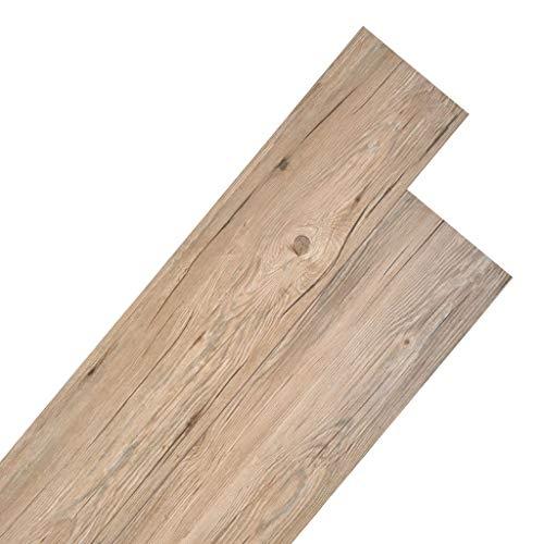vidaXL PVC Laminat Dielen Rutschfest Wasserfest Vinylboden Vinyl Boden Planken Bodenbelag Fußboden Designboden Dielenboden 4,46m² 3mm Eichenbraun