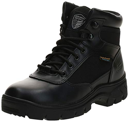 Skechers Men's New Wascana-Benen Military and Tactical Boot, Black, 9.5 M US
