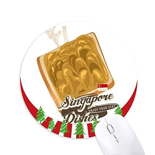 Traditionelle Singapur Kaya Toast Runde Gummi Maus Pad Weihnachtsdekoration