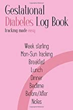 Gestational Diabetes Log Book: Tracking Made Easy: Week Per Page Mon-Sun Tracking, Simple 2-Year Blood Sugar Recording Book