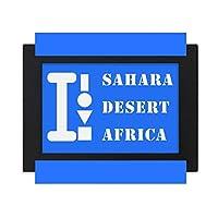 サハラ砂漠アフリカ デスクトップフォトフレーム画像ブラックは、芸術絵画7 x 9インチ