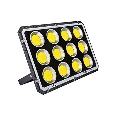 YROD LIGHT Foco Proyector LED 100W 200W 300W400W 600W,Floodlight Led Luz Blanca Impermeable Y Superbrillante,Luz De Trabajo Chip COB De Alto Brillo para Plaza De Garaje De Jardín(Size:600W)