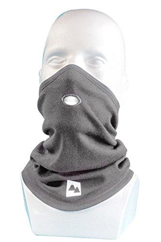 Merino Wolle Multifunktionstuch Thermal Schlauchtuch - 100% Merino mit 230gsm. Warm Atmungsaktiv & Windbeständig. Halstuch Winter & Sommer für Motorrad Radfahren Joggen Skifahren etc (Grau)