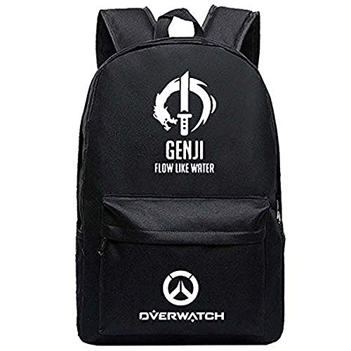 Bkckzzz Männer Männlich Canvas Rucksack für Overwatch Schultasche Reisetasche Funktion Große Kapazität Laptop Rucksack (5) @ 3