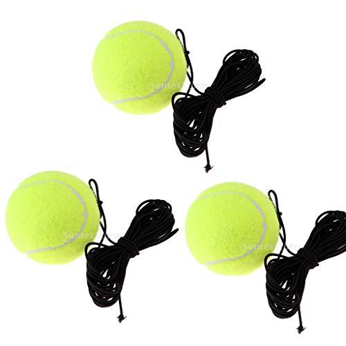 Toygogo 3er Tennisball Mit String Tennis Trainer Ersatzball Ausrüstung