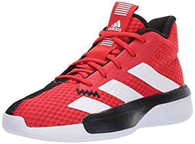 adidas Unisex Pro Next Basketball Shoe, Active Red/White/Black, 5.5 M US Big Kid
