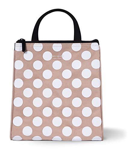Kate Spade New York Portable Soft Cooler Lunch Bag with Silver Insulated Interior Lining and Storage...
