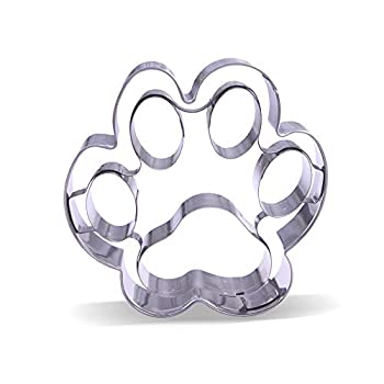 4 inch Large Dog Paw Cookie Cutter – Stainless Steel