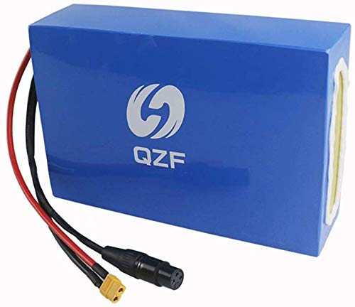 QZF 72V 25AH Ebike Battery Waterproof PVC Lithium Battery Pack with Chrgaer and 60A BMS Protection for 500W-3000W Bike Motor Mountain Bicycle Scooter