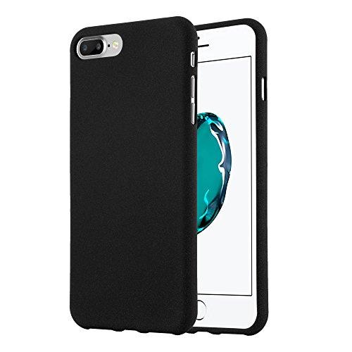 Cadorabo Custodia per Apple iPhone 8 Plus / 7 Plus / 7S Plus in Frost Nero - Morbida Cover Protettiva Sottile di Silicone TPU con Bordo Protezione - Ultra Slim Case Antiurto Gel Back Bumper Guscio