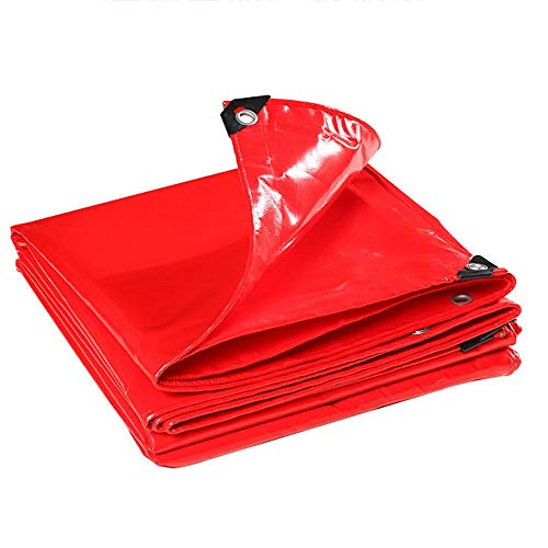 Garden Furniture Covers, Thicken Oxford Cloth Sun Protection Shade Rainproof Waterproof Tent, Customizable GHHQQZ (Color : Red, Size : 4x4m)