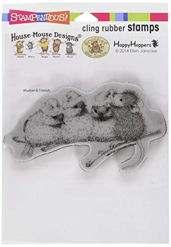 Stampendous Cling Rubber Stamp, Santa Hat Birds