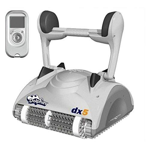 DOLPHIN Robot Limpiafondos de Piscina Automático - Cubre hasta 12 m - Limpia Fondo, Paredes y Línea de Agua - Diseño Compacto, Cómodo y Ligero - Accesorios Piscina - Garantía 3 Años DX5 Maytronics