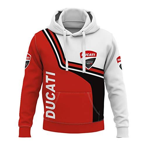 Herren Kapuzenpullover,Pullover - 3d Ducati Druck Sweatshirts Lange Ärmel Hoodie Casual Unisex Jacken Mäntel - Teen Geschenk A-Small