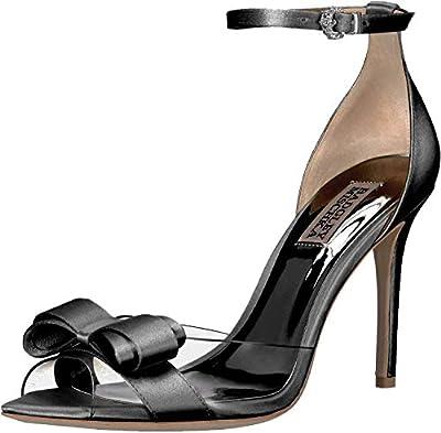 Badgley Mischka Women's Lindsay Pump, Black/Clear, Size 7.5