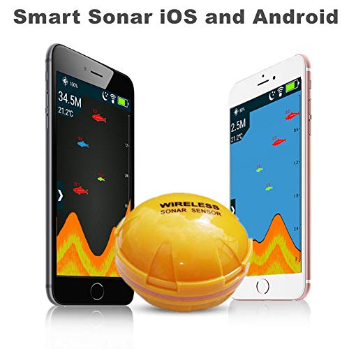 Price comparison product image MeterMall Fishing Parts Wireless Bluetooth Smart Fish Finder Sounder Sonar Fishfinder Sea Fish Detect