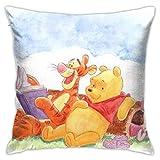 Ahdyr W-innie The P-ooh Pillow Cover Cushion Cover W-innie The P-ooh Decorative Pillow Case Sofa Seat Car Pillowcase Soft 18x18 Inch