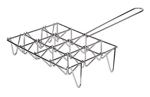 Sauvic 02615 Parrilla ALCACHOFAS 6 Unidades, Acero, 24.50x42.50x8.50 cm