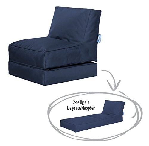 SITTING POINT only by MAGMA Sitzsack Scuba Twist Jeansblau