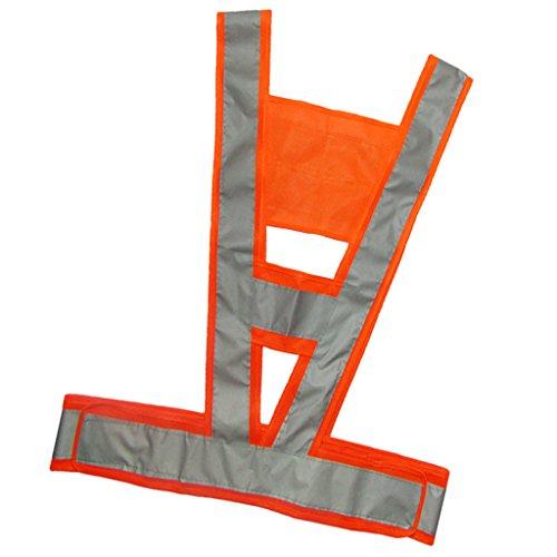 Sharplace Veste de Sécurité V Forme Gilet Sécurité Réfléchissant Vêtement Extérieur - Orange