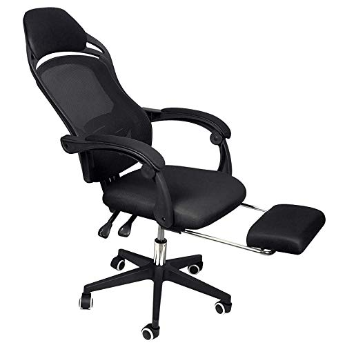Polandee Ergonomic High-Back Reclining Mesh Office Chair - High Back Desk Chair with Footrest and Headrest, Adjustable Computer Desk Chair with Latex Cushion Comfortable Backrest Task Chair - US Stock