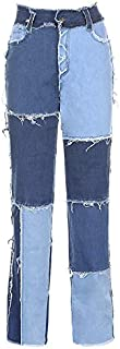Geagodelia - Pantalones vaqueros para mujer, pantalones rectos de Denim Causal XS-XXL cómodos para otoño e invierno