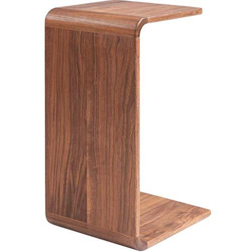 HYY-YY Mesa de centro moderna minimalista de madera maciza sofá lado gabinete desmontable mesita de...