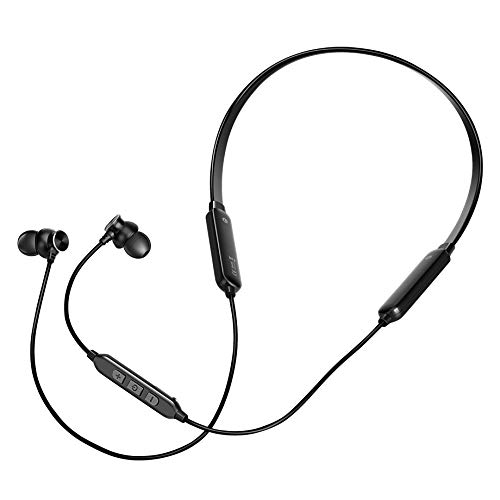 i-JAZZ Wireless Headphones – Bluetooth Earbuds with Microphone – Sweatproof Workout Headset – HD Sound Quality Bluetooth Headphone Neckband – Rechargeable & Large Autonomy – Ideal for Gym, Jogging