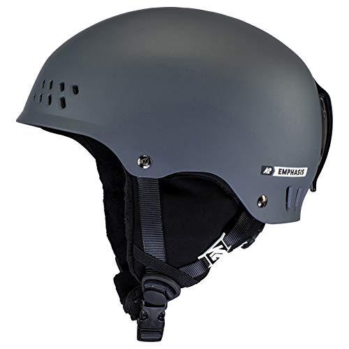 K2 Ski Emphasis Casco de esquí, Mujer, Gris Oscuro Mate, Medium (55-59cm)