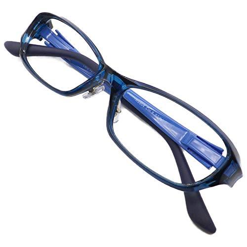 大きいサイズ 軽量 超弾性 老眼鏡 シニアグラス リーディンググラス おしゃれ メンズ 男性向け スタイリッシュ TR90 マルチコート ブルーライトカット TR 9504 C8 1.0