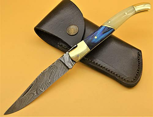 DMZ Damastmesser LAGUIOLE-Laguiole Taschenmesser-Damast taschenmesser - 22cm -(T9bl/hi)