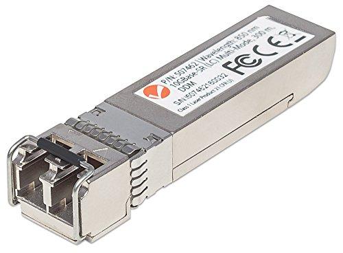 Preisvergleich Produktbild Intellinet Gigabit SFP+ Mini-GBIC Transceiver 10GBase-SR (LC) Multi-Mode Port Reichweite bis zu 300m Wellenlaenge 850nm