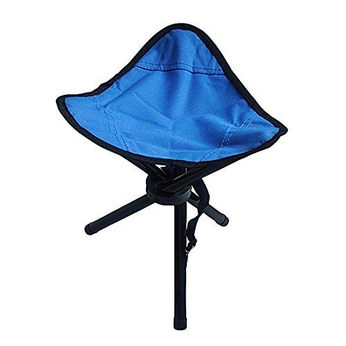 Viajando Camping Trípode Triangular Taburete Plegable Silla Sillas de Pesca Plegable Portátil Compañero de Pesca Silla Plegable Azul