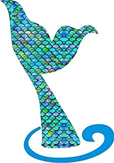 Our Life Mermaid Tail Decal for Car, Window, Mirror or Laptop Premium Printed Vinyl 5